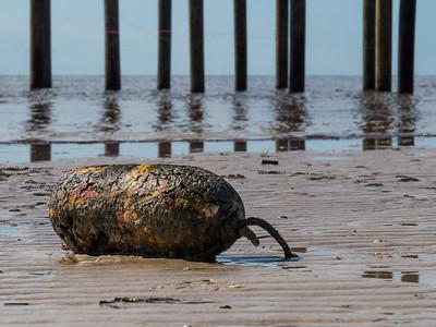 Buoy washed ashore on the beach. Waveland, MS - 7 Apr 2013