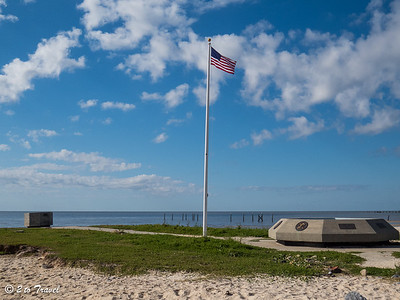 The Veterans Memorial is on North Beach Boulevard, not far from the Waveland Pier, which is condemned. Waveland, MS - 7 Apr 2013