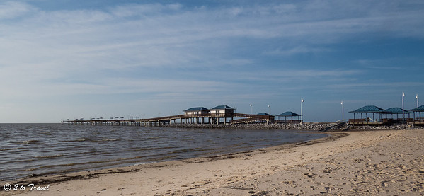 The Waveland Pier, though condemned, it still stands.  Today's beach walk takes us east of the pier. Waveland, MS - 8 Apr 2013