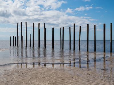 Remnants of a pier east of the Waveland Pier. Waveland, MS - 7 Apr 2013