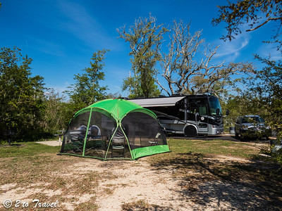 Buccaneer State Park - Long John Silver Loop; our new screen shelter;  Site 68 Waveland, MS - 6 Apr 2013
