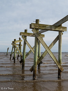 One of several piers on beach boulevard demolished by hurricanes. Waveland, MS - 6 Apr 2013