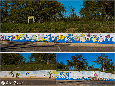 Mural on the corner of Nicholson Avenue and Beach Road. Waveland, MS - 5 Apr 2013