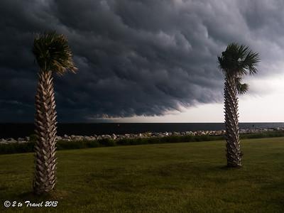 Pelican Roost RV Park - storm. NS Mayport, FL - 15 Aug 2013