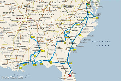 Year 1 Travels - 4,710 miles on the Phaeton. 1 December 2012 to 22 August 2013
