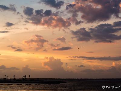 Pelican Roost RV Park - sunset. NS Mayport, FL - 12 Aug 2013