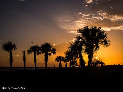 Pelican Roost RV Park - sunrise. NS Mayport, FL - 21 Aug 2013
