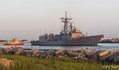 Pelican Roost RV Park - USS Taylor (FFG 50) leaving the ship basin at sunrise. NS Mayport, FL - 13 Aug 2013