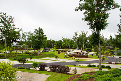 Lake Greenwood Motorcoach Resort - grounds looking towards the back of the grounds before the move. Cross Hill, SC - 6 Jun 2013