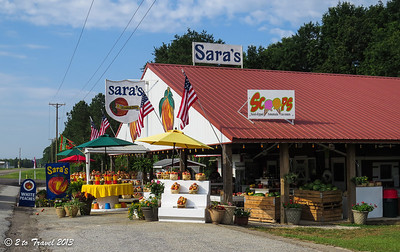 Roadside produce stand en route to Lake Greenwood Motorcoach Resort. Trenton, SC - 4 Jun 2013