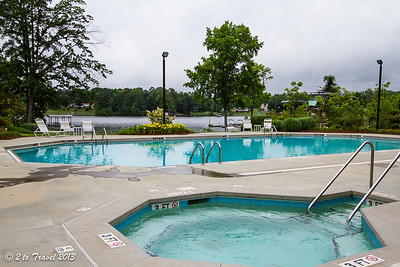 Lake Greenwood Motorcoach Resort - pool area. Cross Hill, SC - 4 Jun 2013