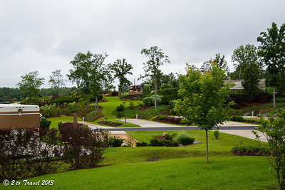 Lake Greenwood Motorcoach Resort - view from site 44. Cross Hill, SC - 4 Jun 2013