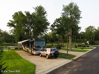 Lake Greenwood Motorcoach Resort - site 44. Cross Hill, SC - 4 Jun 2013