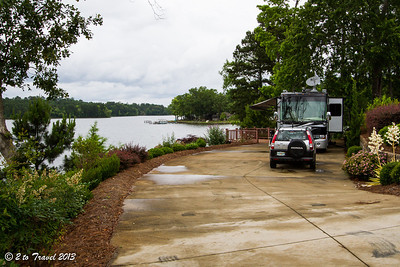 Lake Greenwood Motorcoach Resort - site 32. Cross Hill, SC - 6 Jun 2013
