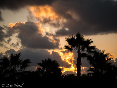 Sunrise from Site 408. Gulf Waters RVR - Port Aransas, Texas. 22 Oct 2014