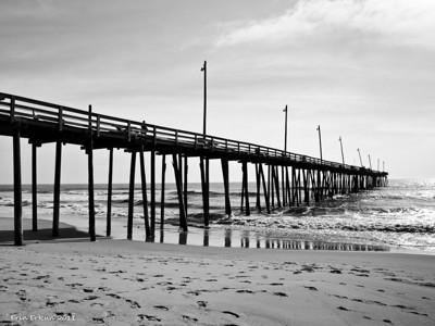 Hatteras Beach fronting Camp Hatteras - Rodanthe Pier.