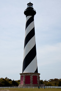 Cape Hatteras Lighthouse - Cape Hatteras National Seashore The spiral-striped landmark serves as a warning to mariners of the Diamond Shoals, submerged and shifting sandbars that extend almost 20 miles off Cape Hateras into the Atlantic Ocean.