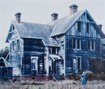 Currituck Beach Lighthouse - Corolla Keepers house before the restoration began in 1980.
