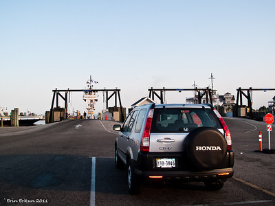 Waiting to board the 7:30a Hatteras-Ocracoke Ferry.