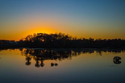 Sunset in Fall - Goshen