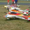 Hangar talk in between Friday practice flights.