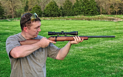Jason shoots the .17 HMR Marlin rifle.