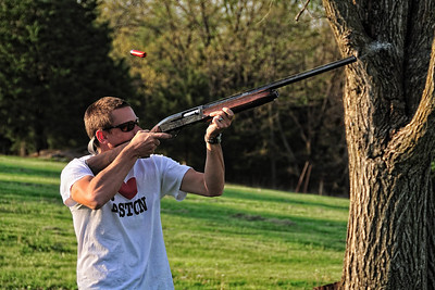 Will shooting skeet with a Remington 1100.