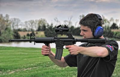 Phil shoots the AR-15