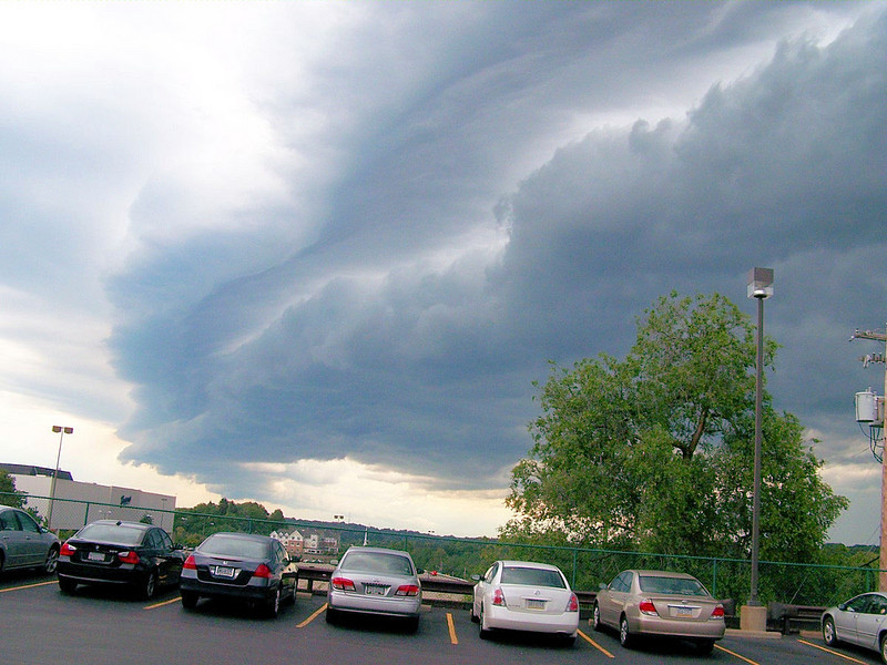 This is shot from PNC Bank's Parking Lot.
