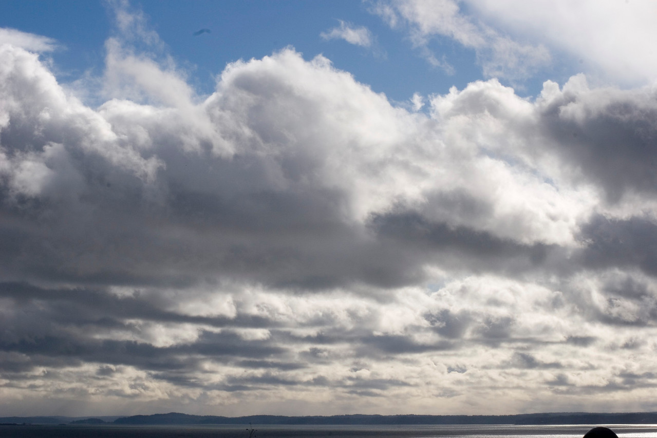 Calm before the storm, photographed from Richmond Beach Saltwater Park, Shoreline, Wa