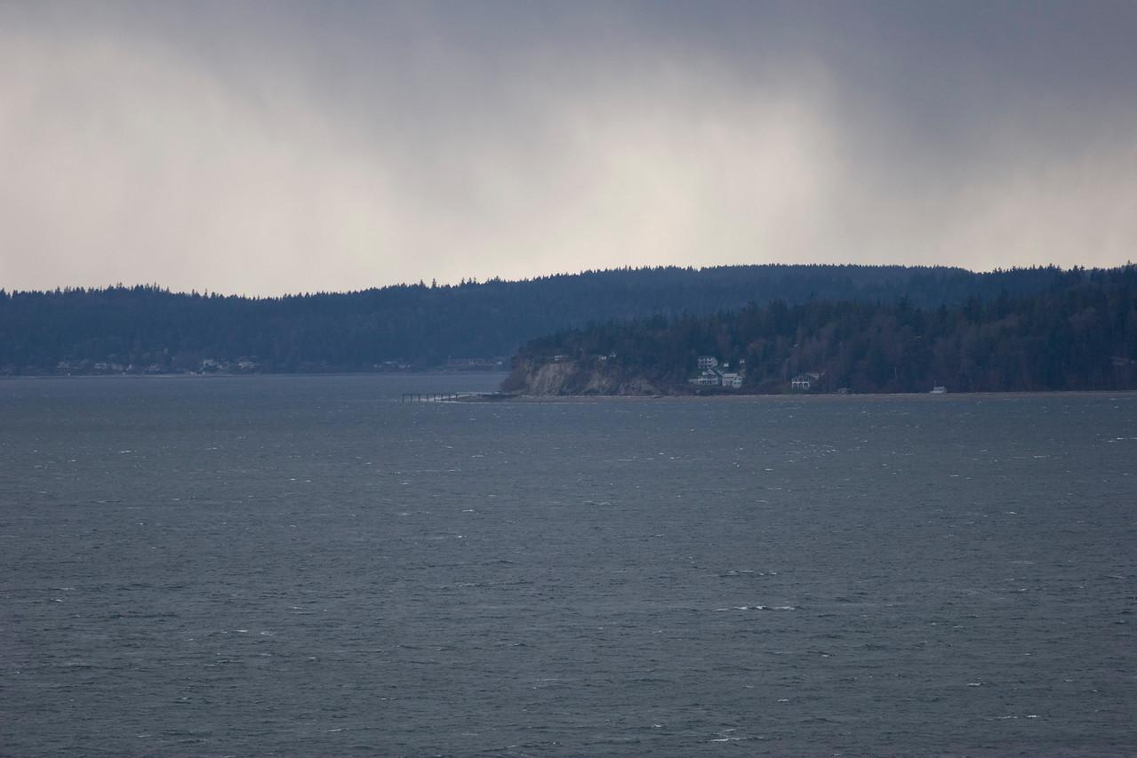 Puget Sound and Kitsap Peninsula from Richmond Beach Saltwater Park, Shoreline, Wa