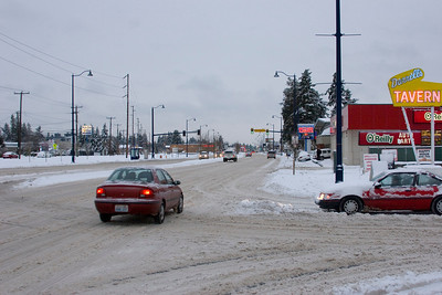 Looking South on Aurora Avenue N. at N 182nd ST. Photographed: 1-19-2012.