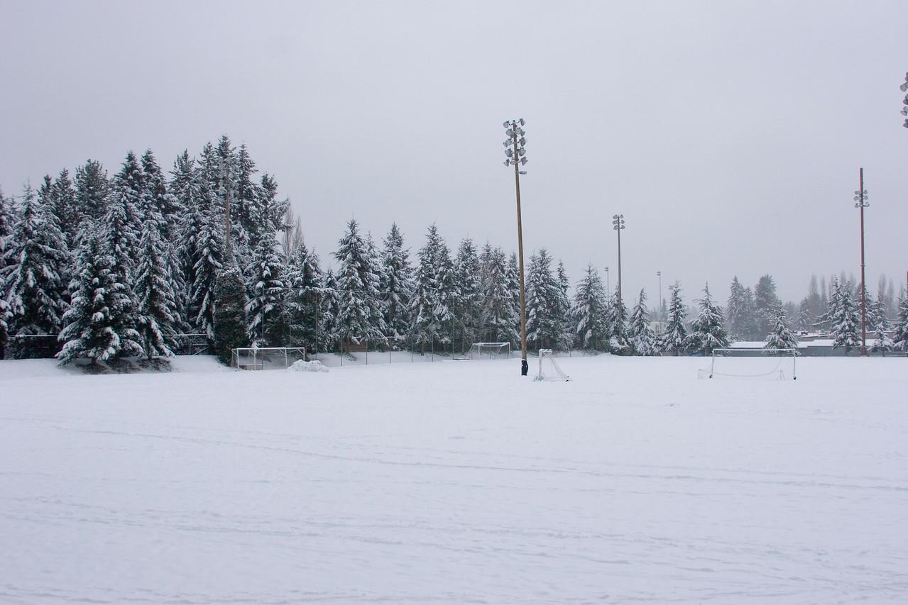 Shoreline Park soccer fields. Photographed: 1-18-2012.