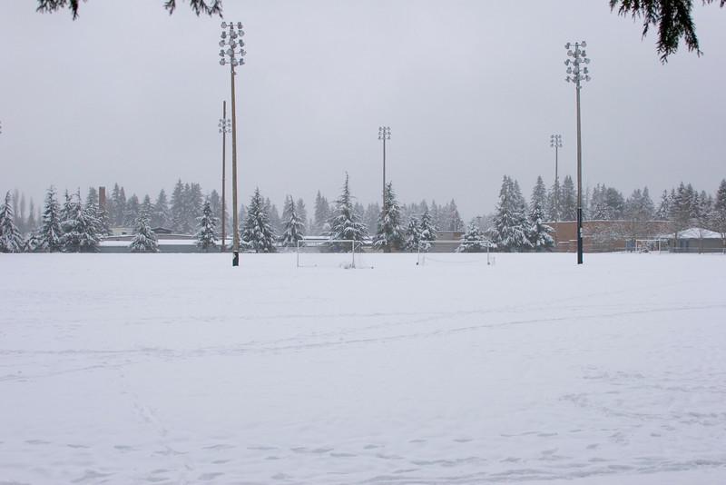 Shoreline Park - Soccer fields. Photographed: 1-18-2012.