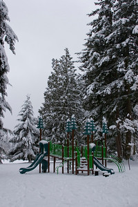 Shoreline Park - New playground?  Covered in snow. Photographed: 1-18-2012.