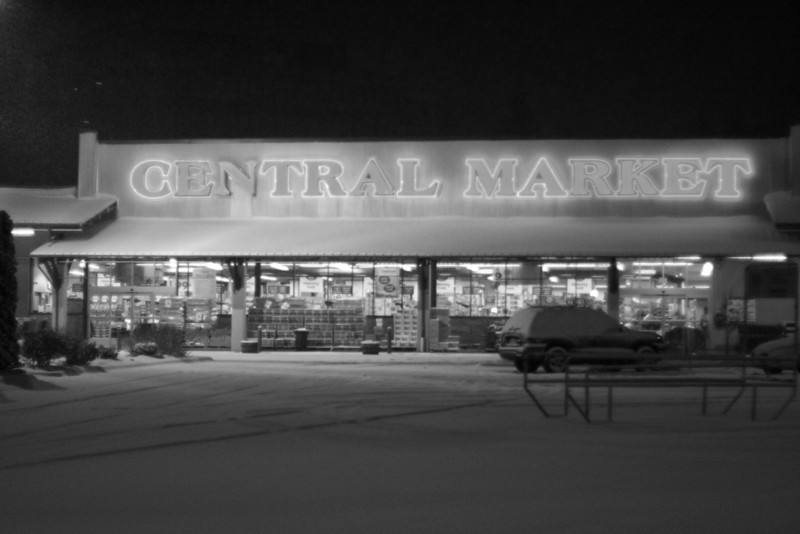 I thought this picture looked a lot better in black and white.  The red neon really over exposed on my camera.
