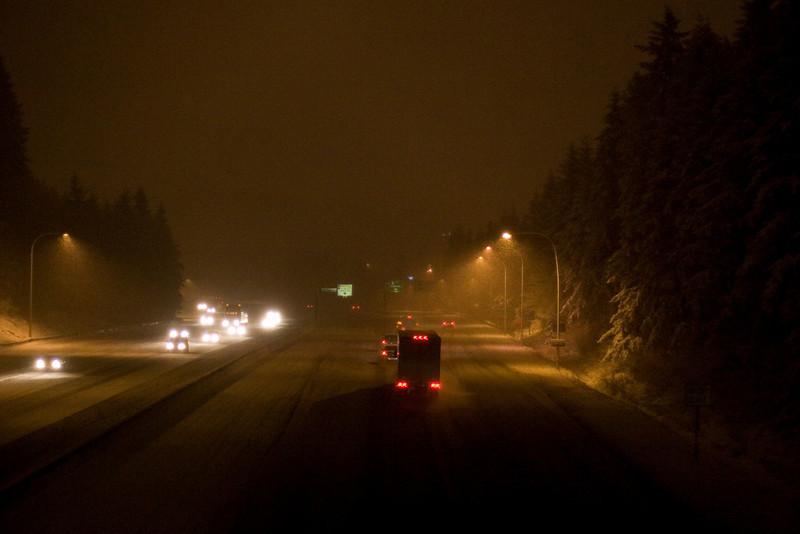 I-5 Northbound, from the NE 195th ST pedestrian overpass. (aka. the foot bridge)