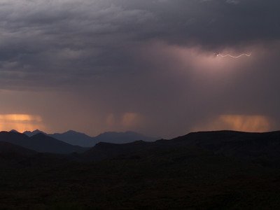 Photographed east of Canyon Lake on Apache Trail on 17 August 2014.   Canon 7D camera, Sigma 50mm f/1.4 lens, aperture f/1.4 and 1/25th of a second with a Nero Lightning Trigger.