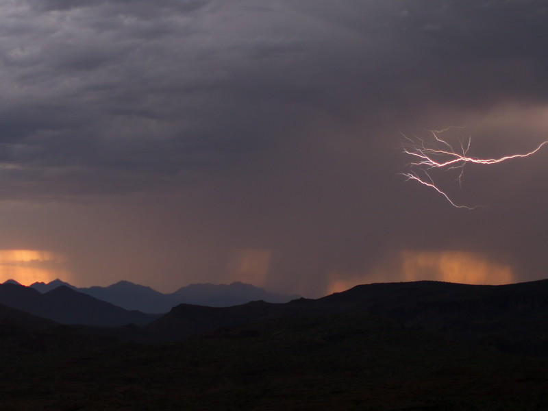 Photographed east of Canyon Lake on Apache Trail on 17 August 2014.   Canon 7D camera, Sigma 50mm f/1.4 lens, aperture f/1.4 and 16th of a second with a Nero Lightning Trigger.
