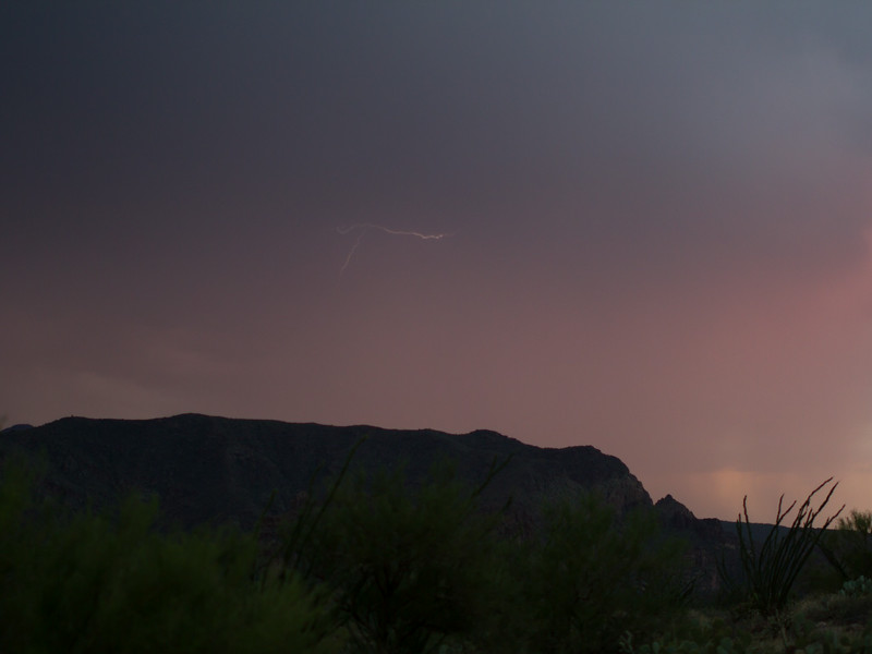 Photographed east of Canyon Lake on Apache Trail on 17 August 2014.   Canon 7D camera, Sigma 50mm f/1.4 lens, aperture f/1.4 and 1/32 of a second with a Nero Lightning Trigger.
