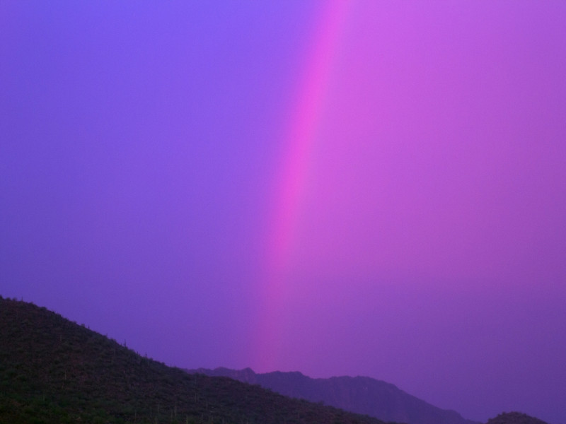 20 Jul 2013 - Mesa, AZ (Rainbow during thunderstorm)