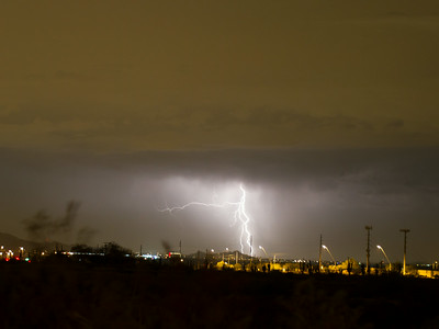 Photographed in Mesa on 17 August 2014.   Canon 7D camera, Sigma 50mm f/1.4 lens, aperture f/1.4 and 1.61 seconds with a Nero Lightning Trigger.