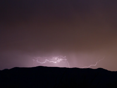 Photographed east of Canyon Lake on Apache Trail on 17 August 2014.   Canon 7D camera, Canon 70-300mm f/3.5-5.6 IS USM lens, focal length 70mm, aperture f/4 and 2.59 seconds and a Nero Lightning Trigger.
