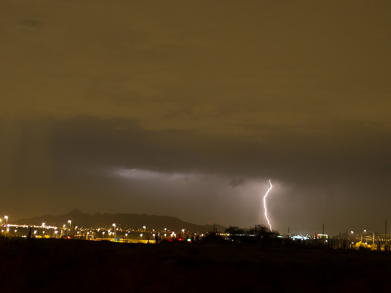 Photographed in Mesa on 17 August 2014.   Canon 7D camera, Sigma 50mm f/1.4 lens, aperture f/4 and 5.19 seconds with a Nero Lightning Trigger.