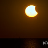 Partial Solar Eclipse at Sunset, October 23, 2014
