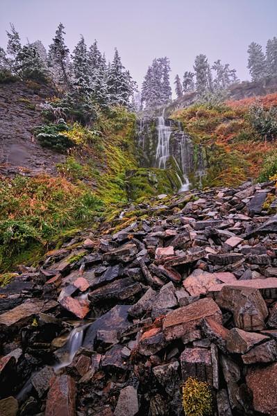 Snowy Vidae Falls, Crater Lake NP