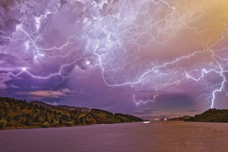 Four Minutes of a Tempest up at Horsetooth
