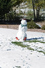 The wet and heavy snow made for a number of snowmen appearing in surrounding yards.