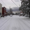 Sir Walter Raleigh Street looking west from Manteo's waterfront. Snowfall 2003.