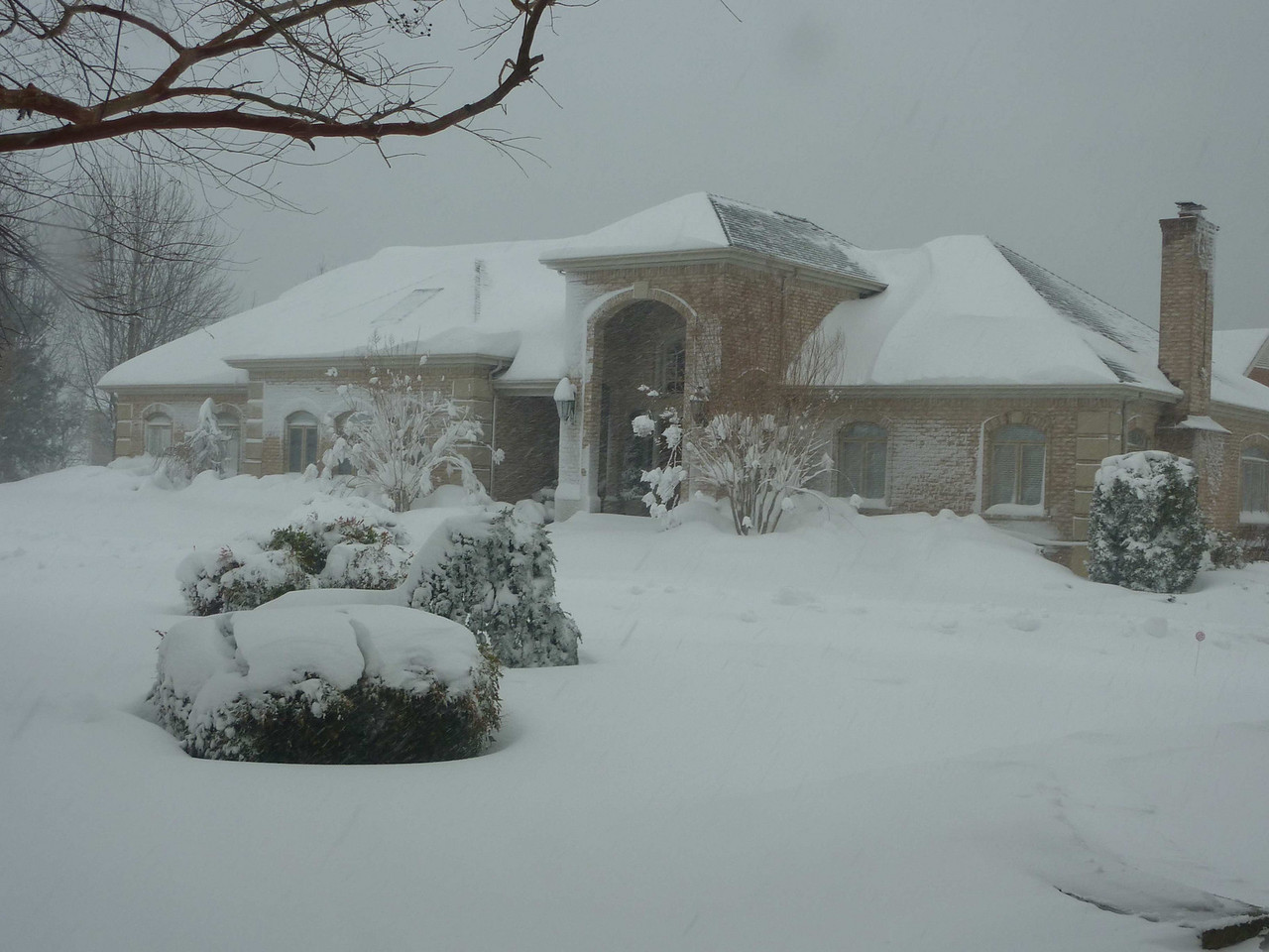 Picture of our home taken during one of the big snow storms of 2010